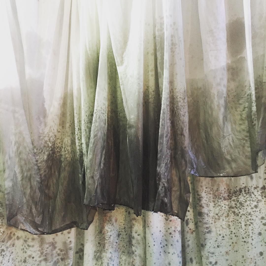 crazy dye process #silk #handdyed #experimental #mnfw #envision