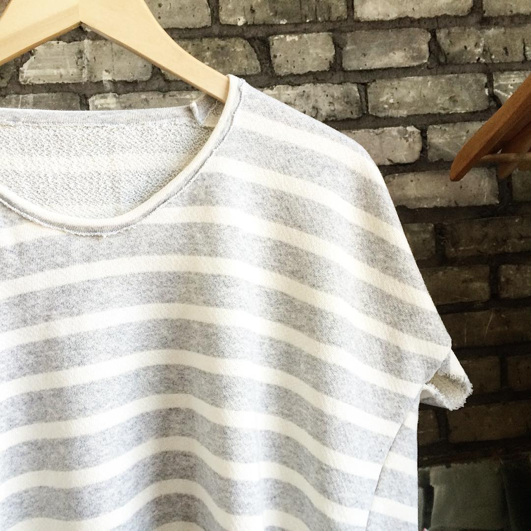 Shipping these cuties off to @backtalkpdx today, starting the seasonal transition! French terry is the perfect way to ease into fall without totally saying goodbye to summer 😉 coming soon to Minneapolis! #acgmpls #aw15 #stripetee #frenchterry #independentdesign #mpls #mplsstyle