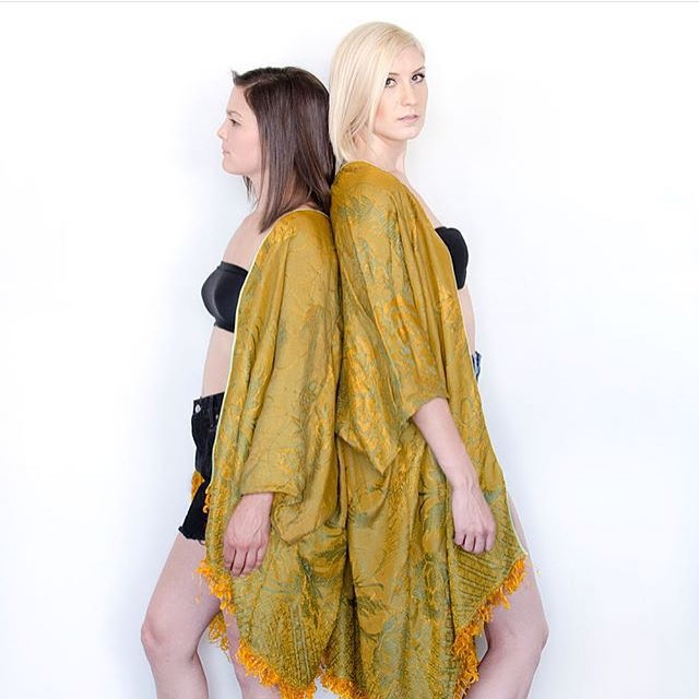 love this shot from the #mothoddities collab. the Marion Kimono is available in s shorter or longer version on their website,  www.mothoddities.com