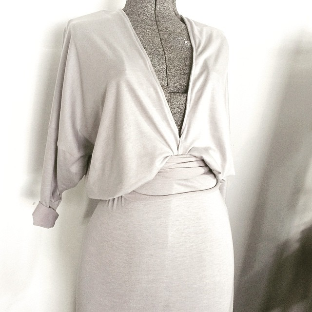 this one of a kind piece could be perfect for you- comfy jersey, dramatic deep neckline. available only at @showroommpls #mplsdesign #mplsfashion #minneapolisfashion #acgmpls #deepvneck #hotdate #slowfashion