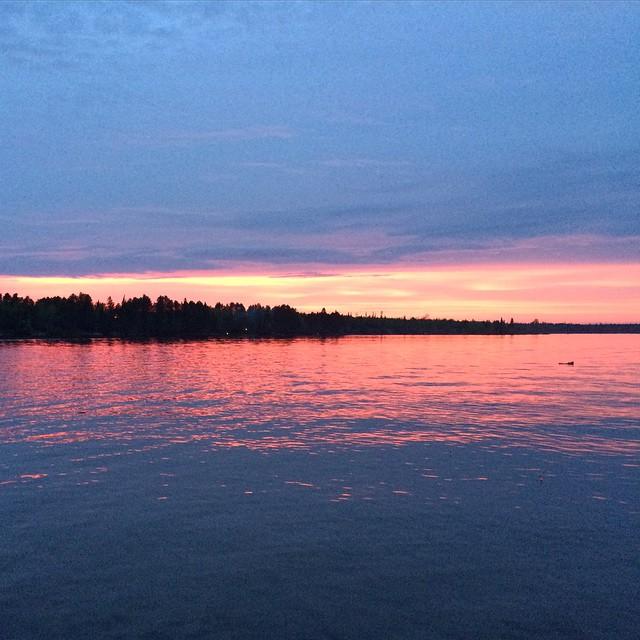 last nights sunset #northwoods #minivacay #memorialday #babbitmn