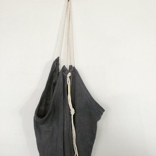 string dress #water #brass #bluegrey #rope