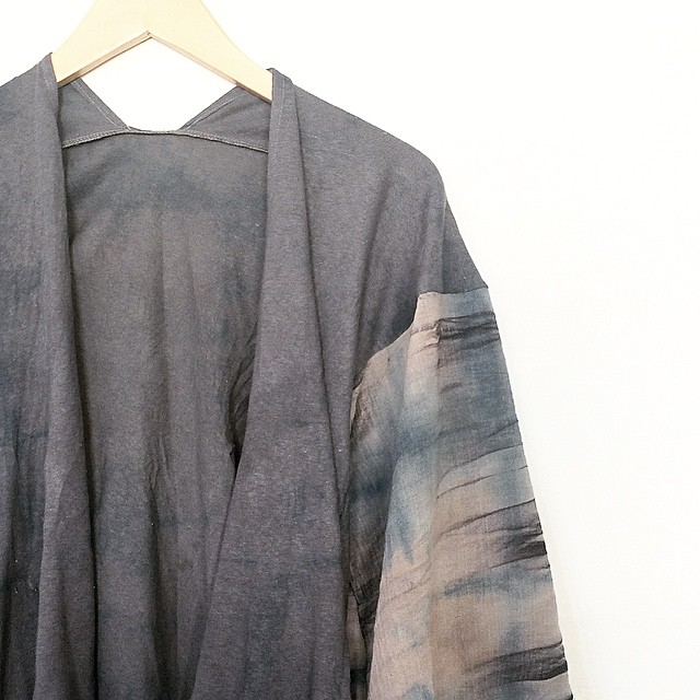 MPLS SERIES River Cover #handdyed #cotton #cardigan #slowfashion @gallery360mpls