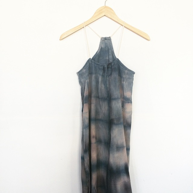 people! help me name this one-of-a-kind spaghetti rope racerback- What MN Body of Water Does This Dress Look Like? #namingcontest #handdyed #racerback #slowfashion