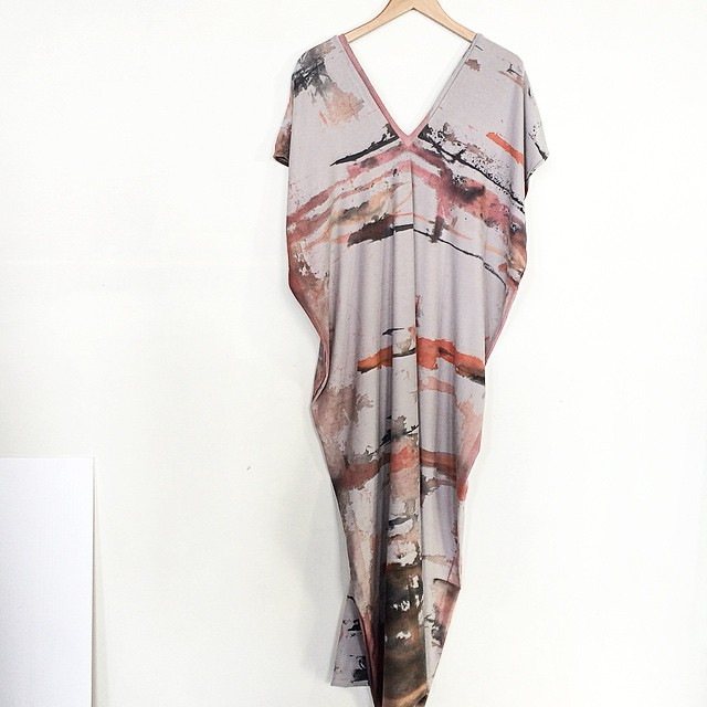 MPLS SERIES Warehouse Caftan #handpaintedcloth #doublevneck #caftan #maxidress