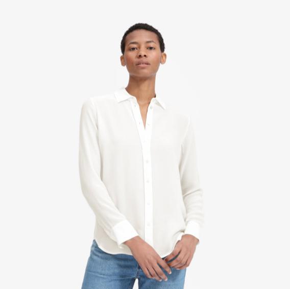 Everlane Clean Silk Relaxed Shirt, $98