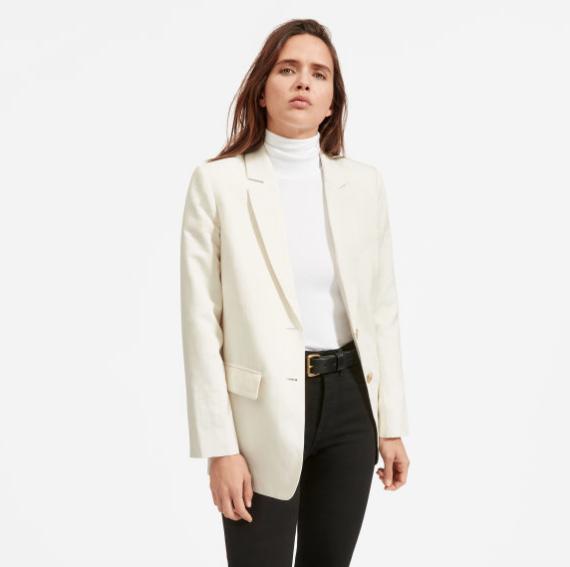 Everlane Cotton-Linen Blazer, $145