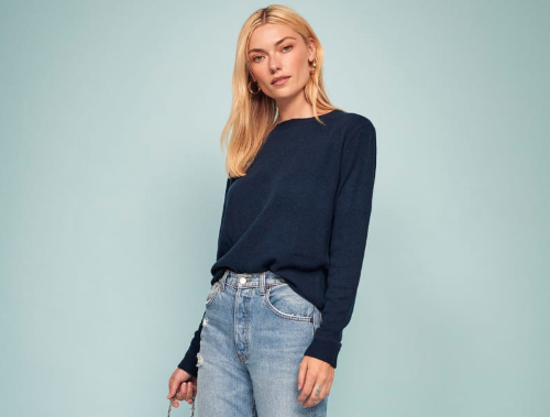 Reformation Cashmere Boyfriend Sweater, $148