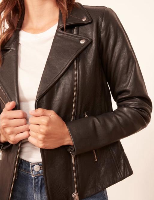 Reformation Veda Bad Leather Jacket, $498