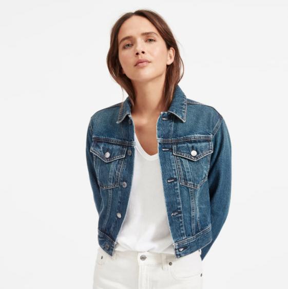 Everlane Cropped Denim Jacket, $78