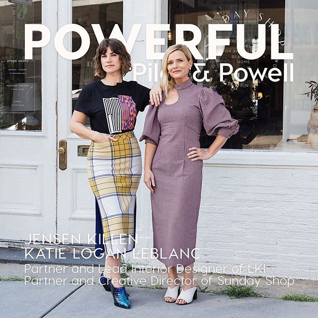 Thank you so much to @pilotandpowell for including LKI in their Female Entrepreneur Spotlight series. We are truly honored, read the full story below! ••• Katie Logan LeBlanc and Jensen Killen Partners and Lead Interior Designers of LKI Partners and Creative Directors of Sunday Shop ⠀⠀⠀⠀⠀⠀⠀⠀⠀ Tell Us About Your Business: ⠀⠀⠀⠀⠀⠀⠀⠀⠀ LKI is a full service interior design studio that lives above Sunday Shop, a lifestyle shop focused on beautiful and easy interiors ⠀⠀⠀⠀⠀⠀⠀⠀⠀ Describe Your Style: ⠀⠀⠀⠀⠀⠀⠀⠀⠀ JK: Bohemian, down to earth, sculptural ⠀⠀⠀⠀⠀⠀⠀⠀⠀ KLL: Ladylike TomBoy ⠀⠀⠀⠀⠀⠀⠀⠀⠀ Favorite Designer: ⠀⠀⠀⠀⠀⠀⠀⠀⠀ We both go to Apiece Apart, Rachel Comey, Ganni, and Loeffler Randall ⠀⠀⠀⠀⠀⠀⠀⠀⠀ KLL: Rodebjer is going to be the death of me. Thanks Pilot and Powell. So cool and classic! I cannot get enough ⠀⠀⠀⠀⠀⠀⠀⠀⠀ JK: I recently discovered Rejina Pyo through Pilot and Powell. So interesting but easy to wear. Love it ⠀⠀⠀⠀⠀⠀⠀⠀⠀ Favorite Work Look: ⠀⠀⠀⠀⠀⠀⠀⠀⠀ KLL: High waisted black jeans, killer shoes with a chunky heel for confidence and function, silk button up ⠀⠀⠀⠀⠀⠀⠀⠀⠀ JK: Vintage inspired sculptural dress, platforms, chunky necklace ⠀⠀⠀⠀⠀⠀⠀⠀⠀ Favorite Weekend Look: ⠀⠀⠀⠀⠀⠀⠀⠀⠀ JK: a muumuu ⠀⠀⠀⠀⠀⠀⠀⠀⠀ KLL: Easy high waisted skirt and a cropped shirt ⠀⠀⠀⠀⠀⠀⠀⠀⠀ How Clothing Makes You Feel Powerful: ⠀⠀⠀⠀⠀⠀⠀⠀⠀ JK: Clothing can be like armour against the stresses of the day. Feeling put together and cool is its own motivation in itself and helps me feel calm and focused. It can inspire my mood and creativity which finds its way into interiors projects and my relationships ⠀⠀⠀⠀⠀⠀⠀⠀⠀ KLL: It is something beautiful that I have control of every day. Just like it interiors, it is creative and also has to be functional. Clothing is uniquely my expression. That is a powerful thing to own every day ⠀⠀⠀⠀⠀⠀⠀⠀⠀ #pilotandpowerful