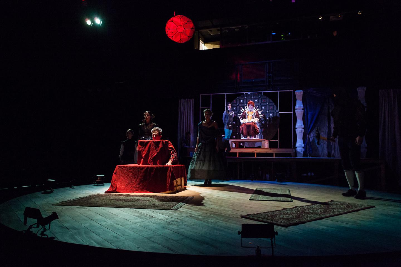 Elizabeth (Regan Linton) watches as Mary Queen of Scots gets executed.