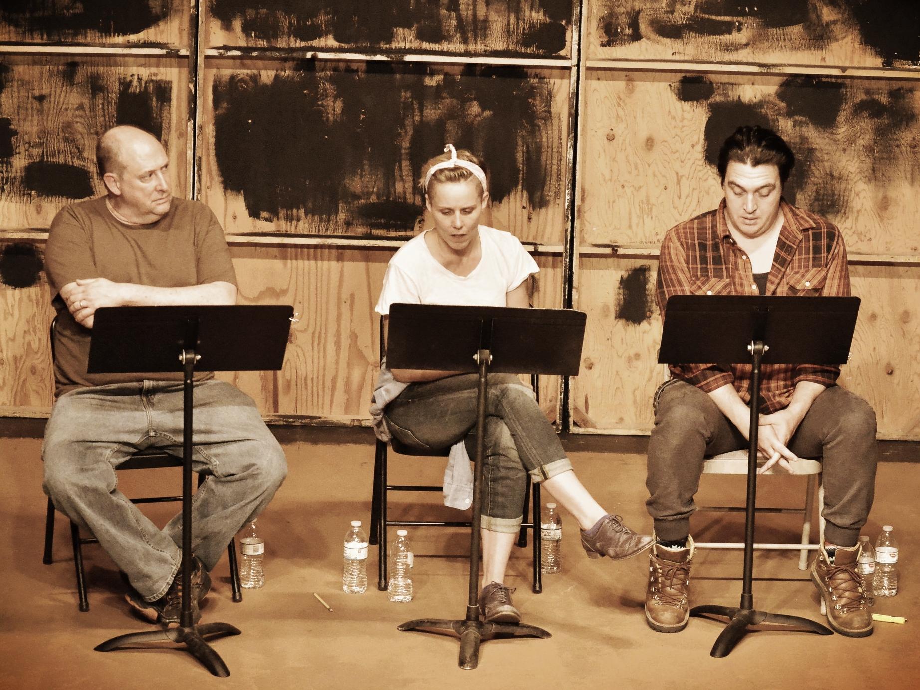 (L-R) Bill Salyers, Sara Bruner, Chris Salazar   (Photo by Stan Krute)