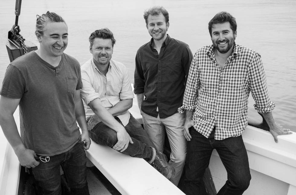 The restaurant's partners, from left: Adrien Gallo, Mark Firth, Miles Pincus and Alex Pincus.