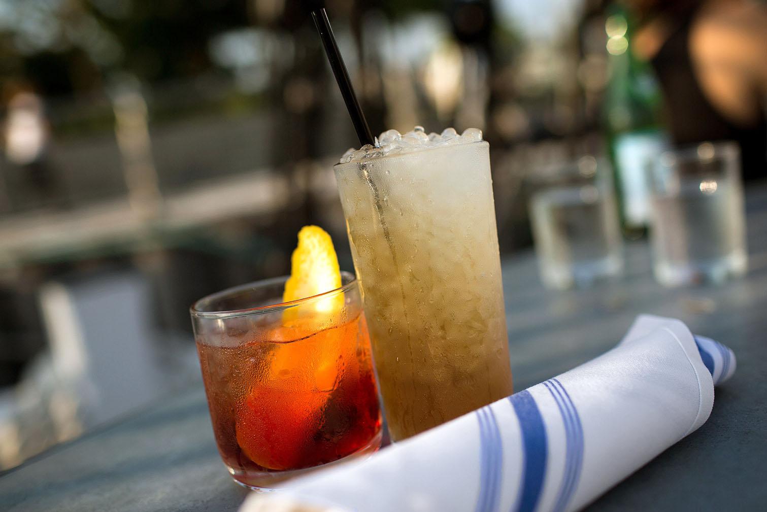 Cocktails include the Negroni Sbagliato and the Kona Swizzle.