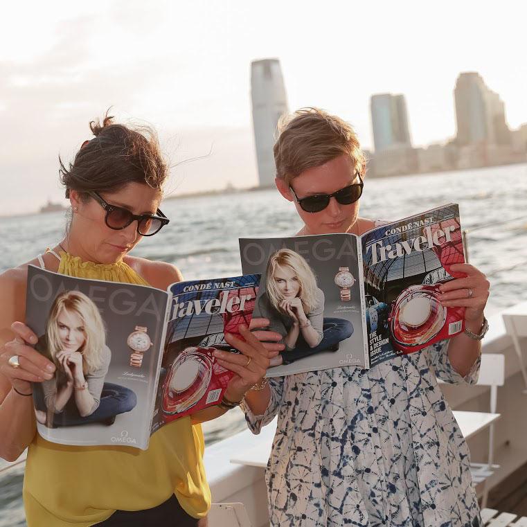 Pilar Guzman, Editor in Chief, and Yolanda Edwards, Creative Director, Condé Nast Traveler.