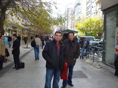 Luis Alberto y Raymundo inseparables en los paseos.