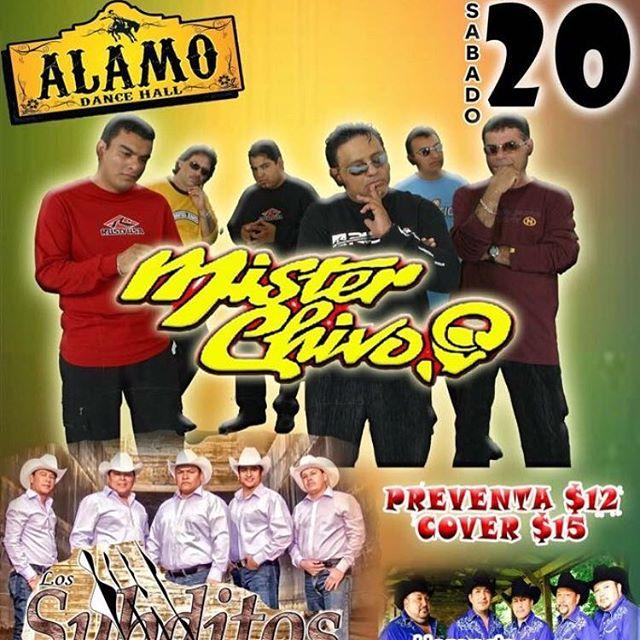 """Amigos nos vemos este fin de semana en: 🔹 Viernes 19 de Enero """"Evento Privado"""" 🔹 Sabado 20 de Enero en el """"Alamo Dance Hall"""" en Alamo, Tx. 🔹 Domingo 21 de Enero """"Evento Privado"""" ¡Los Esperamos! #misterchivo #cumbia #mexico #baile #texas"""