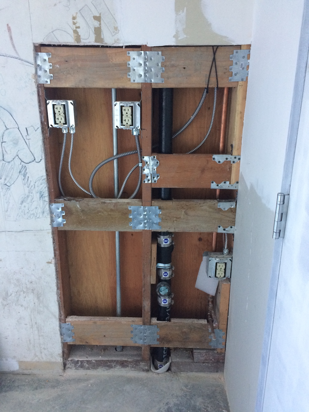 New Electrical Wiring And Sink Plumbing