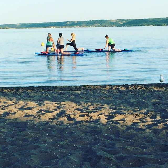 My night..👍 #SUPyoga #yoga #sasksup #katepwabeach #supregina #katepwa #tourismsask #saskparks #kidsintrees  NOT PICTURED: The rescue efforts made about 45 minutes earlier. A family rented a canoe and a kayak for on hour, and said they knew what they were doing (and challenged me on the need to wear their PFD). I'm proud to know that we always make sure paddlers are aware of the safety issues, and are safely equipped. That said, sometimes the unexpected occurs. Thankfully @kristalmcbain and I were both there, thankfully we knew what to do, and thankfully nobody was injured...or worse. #wearyourPFD #paddlesmart