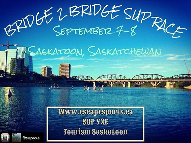 The best SUP event! If you enjoy padding, check it out. The weekends events are tons of fun regardless of how competitive you want to be. www.escapesports.ca for details and to register.  #supsask #supyxe #suprace
