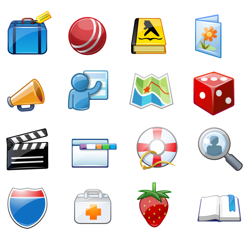 Product Icons - Every product from Travel, Yellow Pages, Greetings, Health, Games, People Search, Maps…