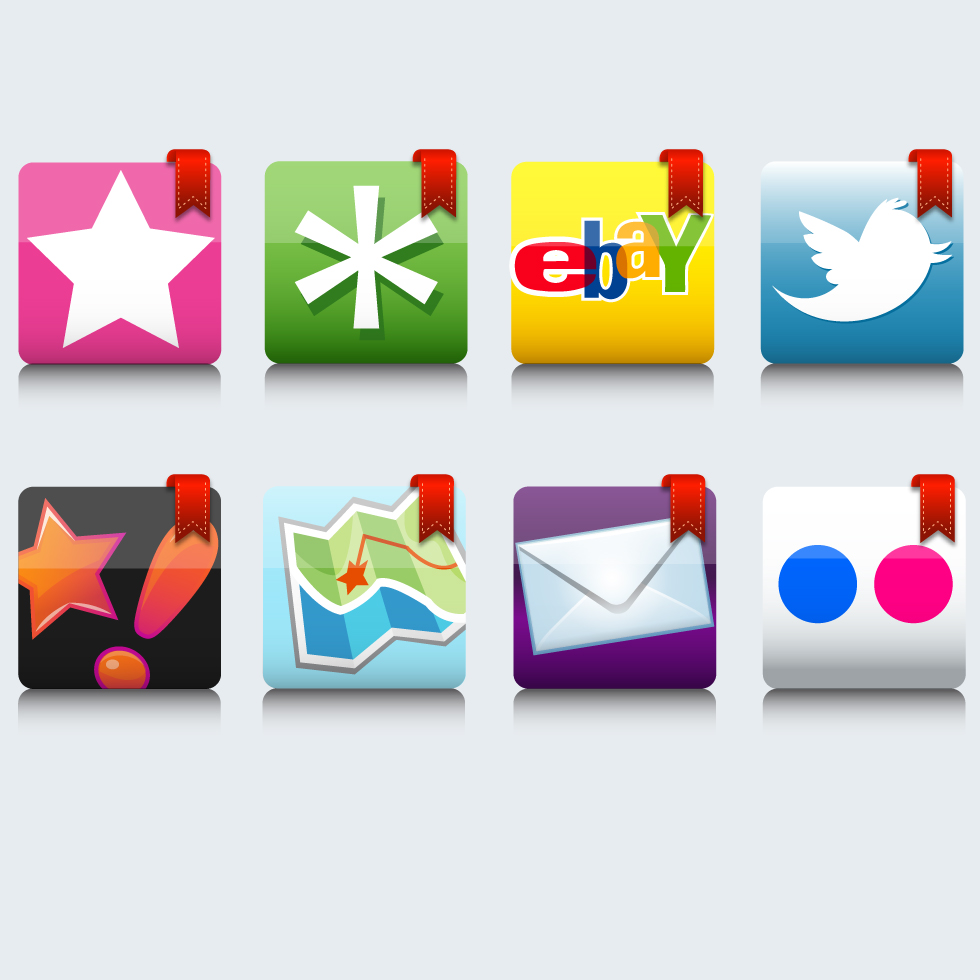 Bookmarked Icons -