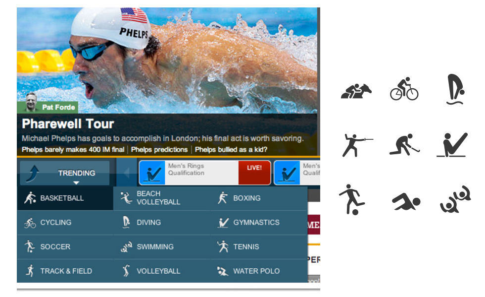 Y! Olympic Site Icons -