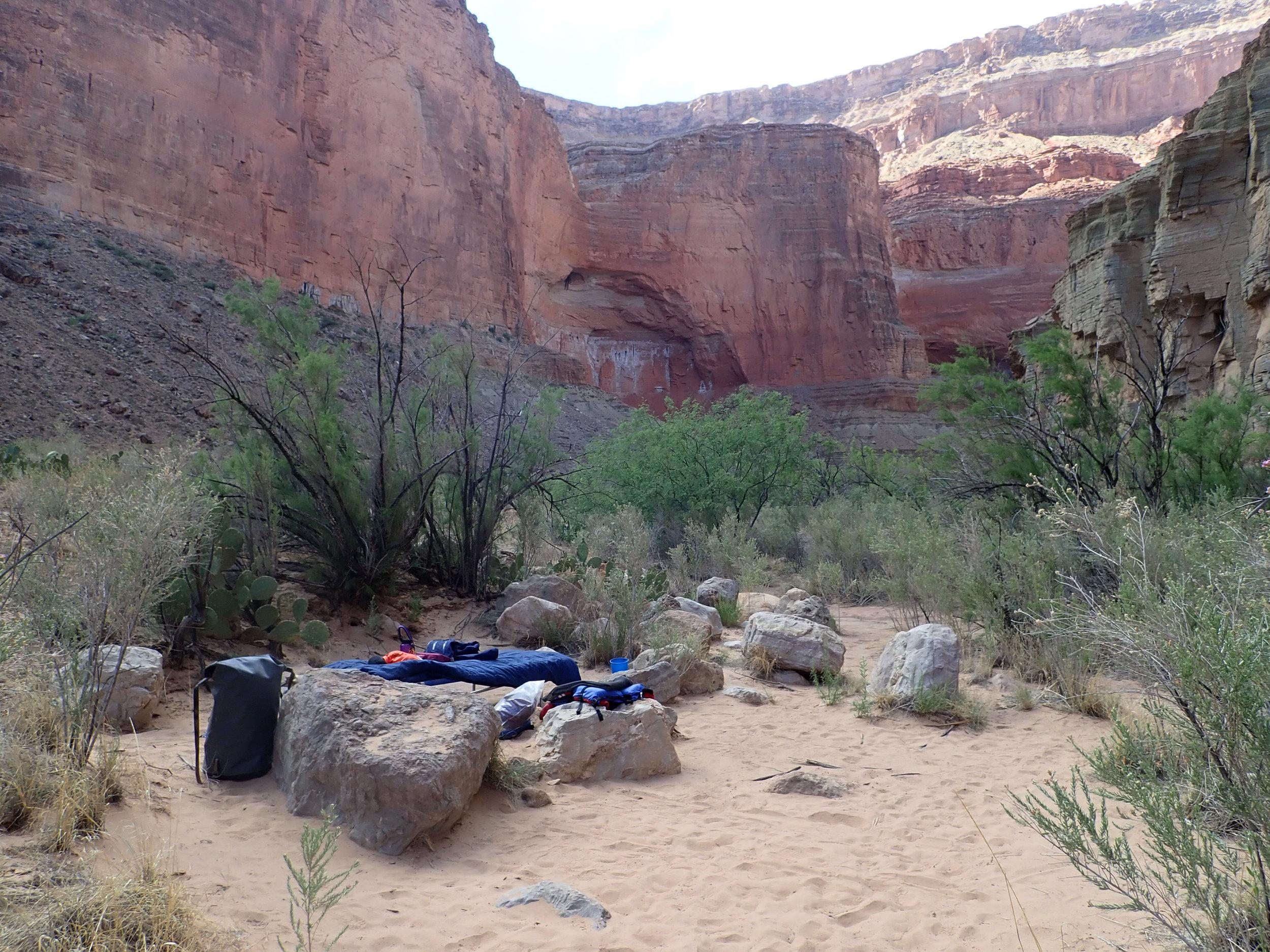 My 'bedroom' at mile 47 1/2, Upper Saddle Camp