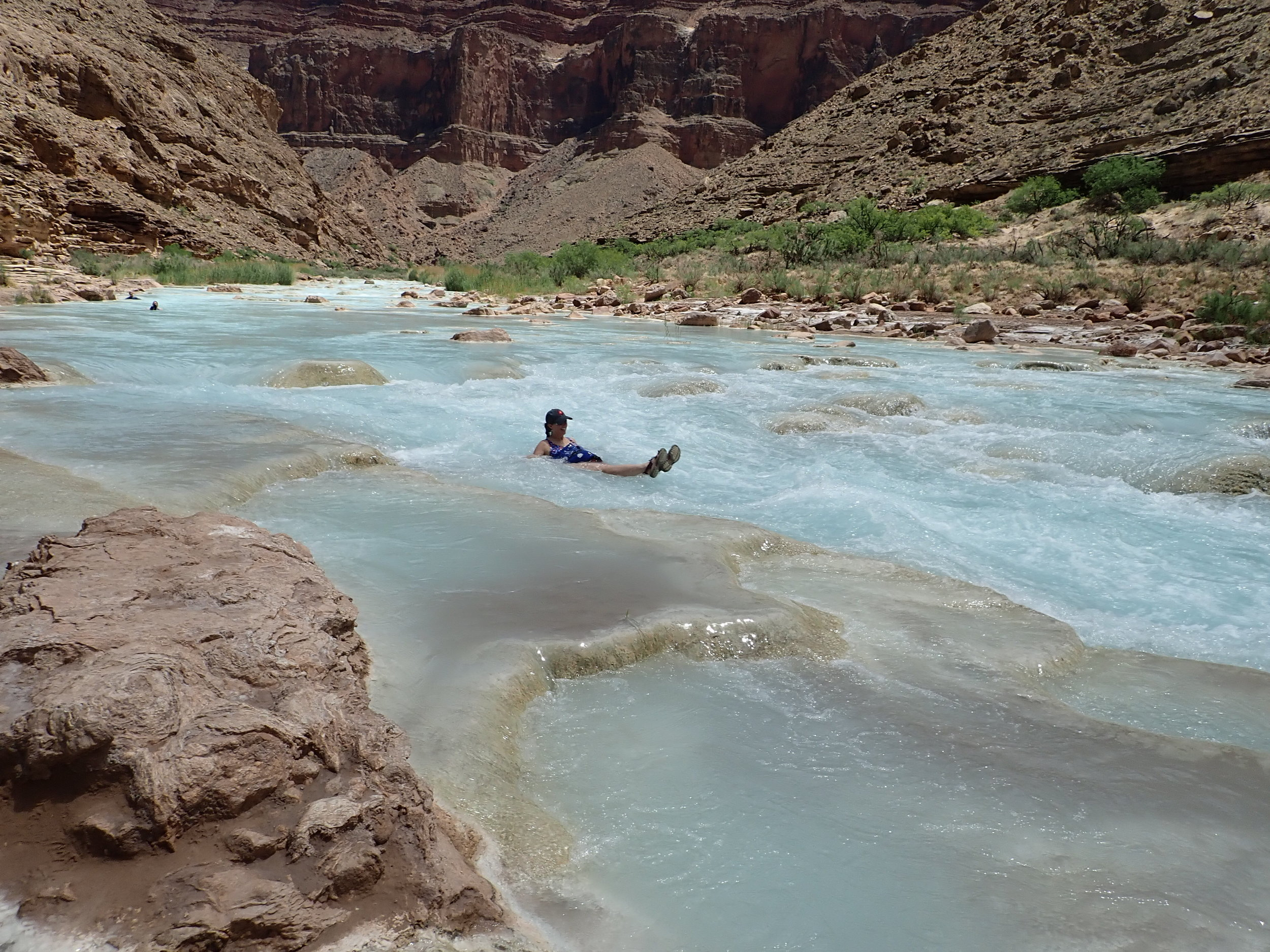 Riding the little rapids on the Little Colorado