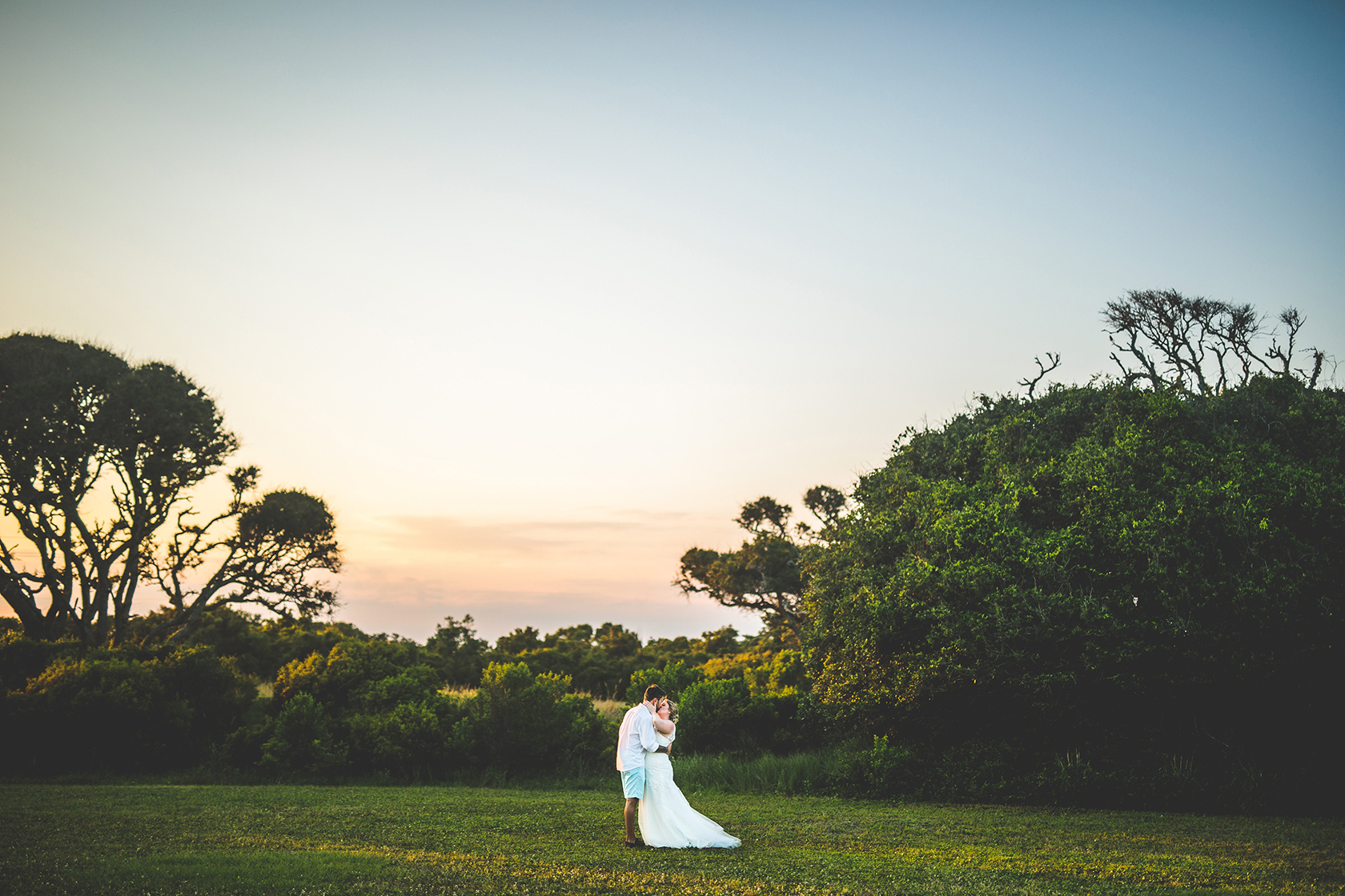 Fort Fisher Bride and Groom.JPG