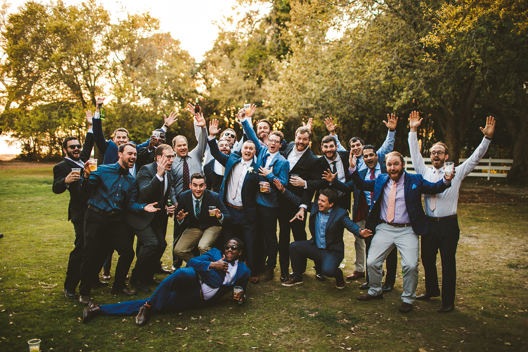Friends of the Groom going crazy