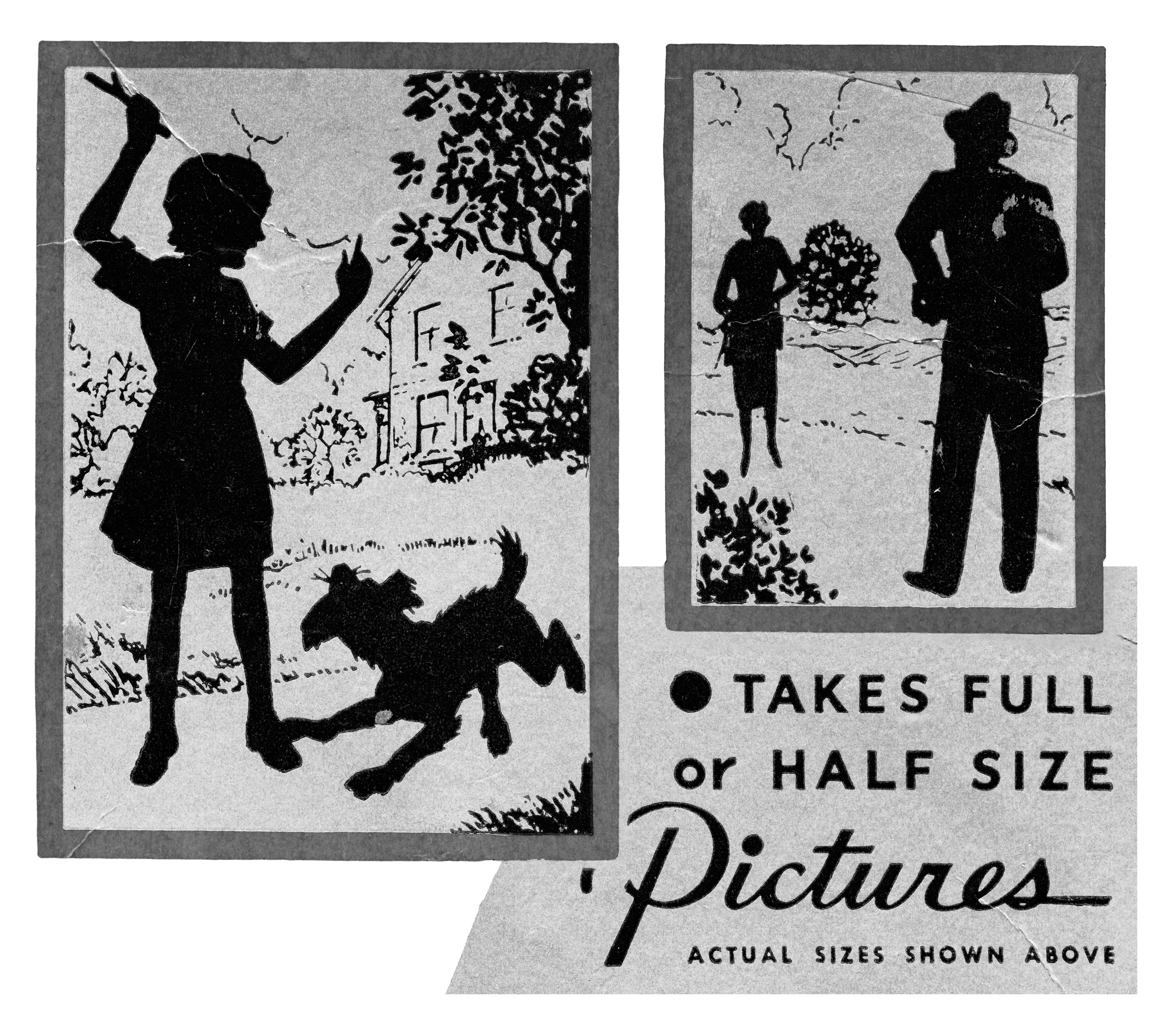 fig. 1 & 2   Graphics from original boxfor Agfa Ansco Shur-Shot camera model that offers both 6x9 and 6x4.5 options.