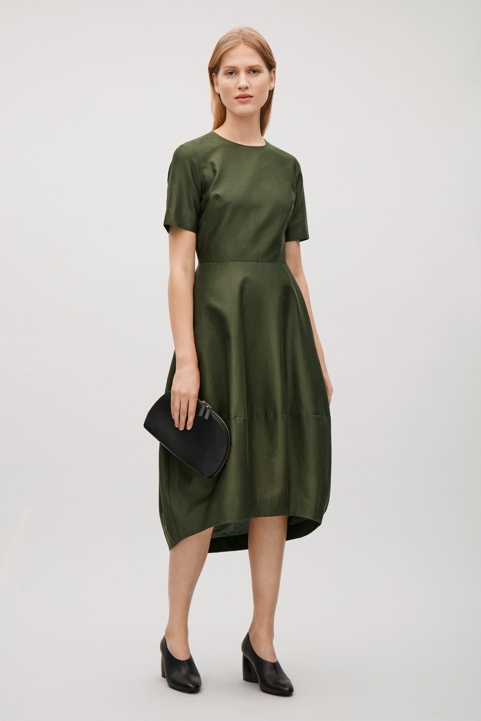 COTTON-SILK DRESS   $135 |COS