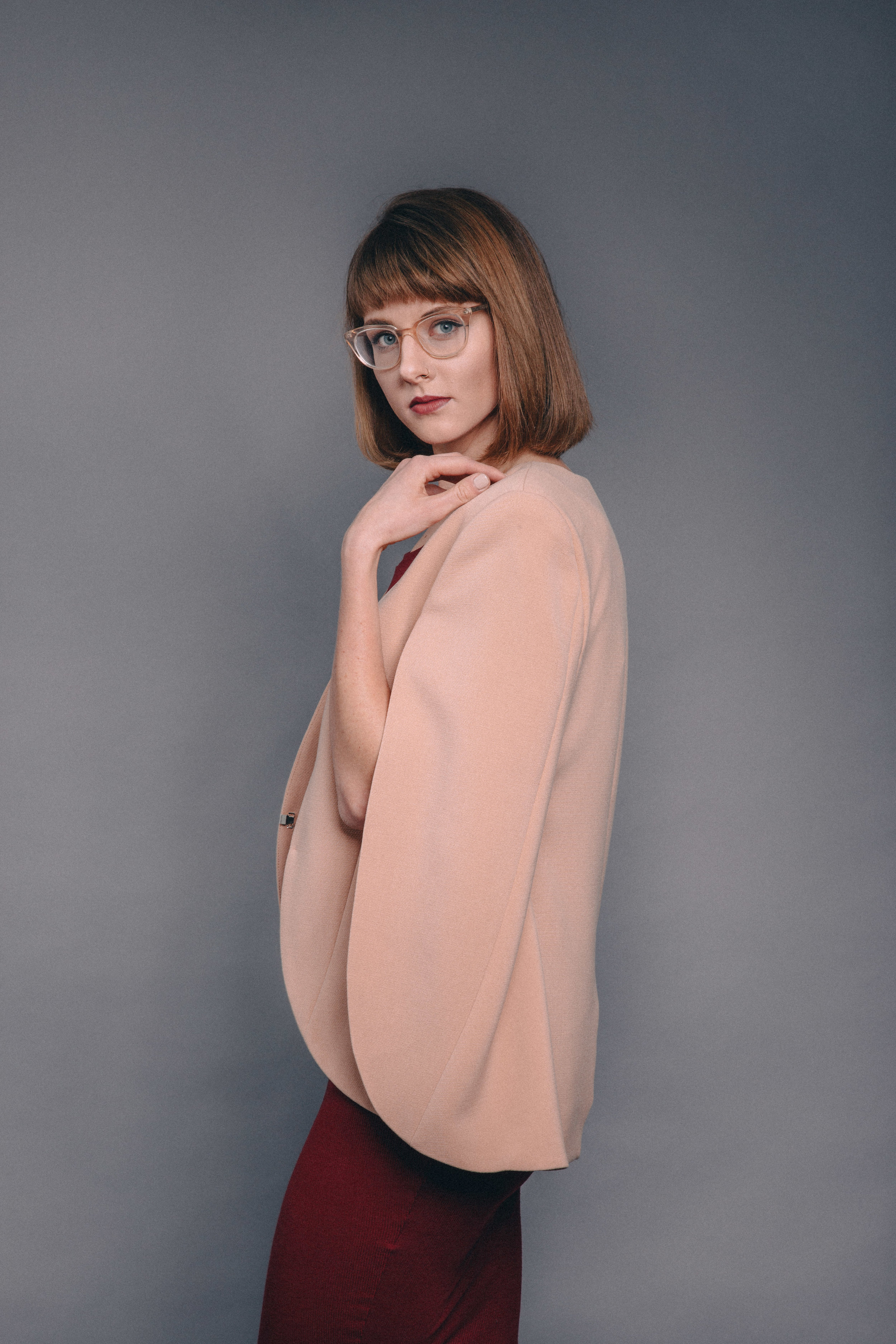 Atid   basic tee dress //   Blaque Label   cape