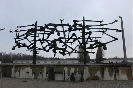 Sculpture by Nandor Glid, an international memorial at Dachau Camp