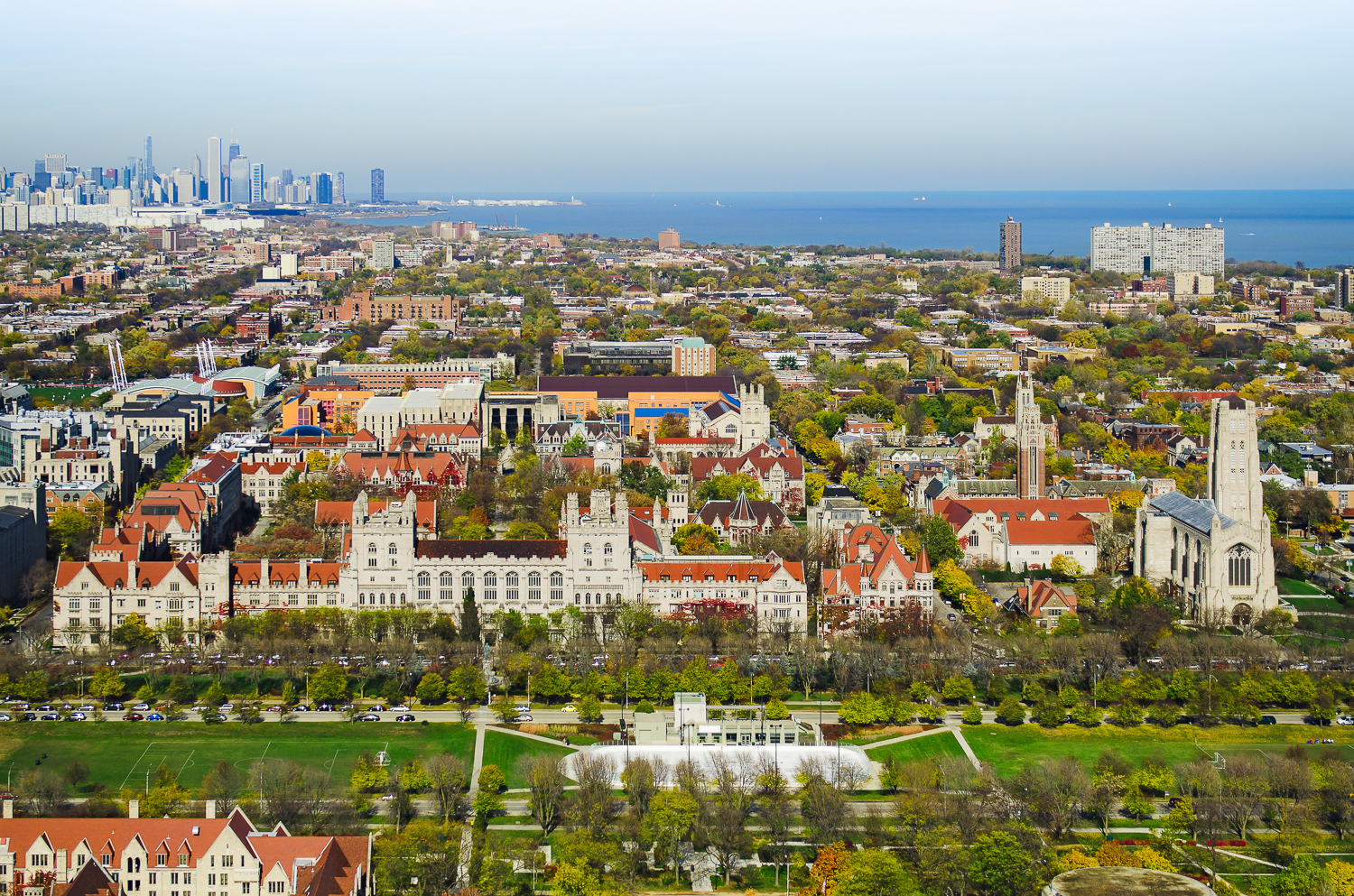 Image Title:  University of Chicago - Aerial   Mat Sizes:  8x10, 11x14, 16x20   Float Mount Sizes:  12x18, 16x24, 20x30, 24x36, 28x42, 32x48, 36x54, 40x60