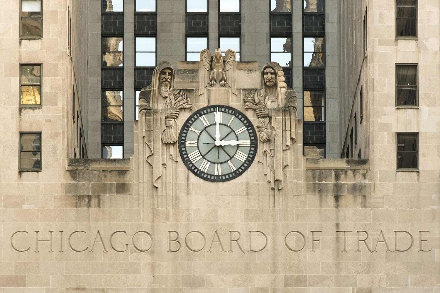 Image Title:  Chicago Board of Trade   Mat Sizes:  8x10, 11x14, 16x20   Float Mount Sizes:  12x18, 16x24, 20x30, 24x36, 28x42, 32x48, 36x54, 40x60.
