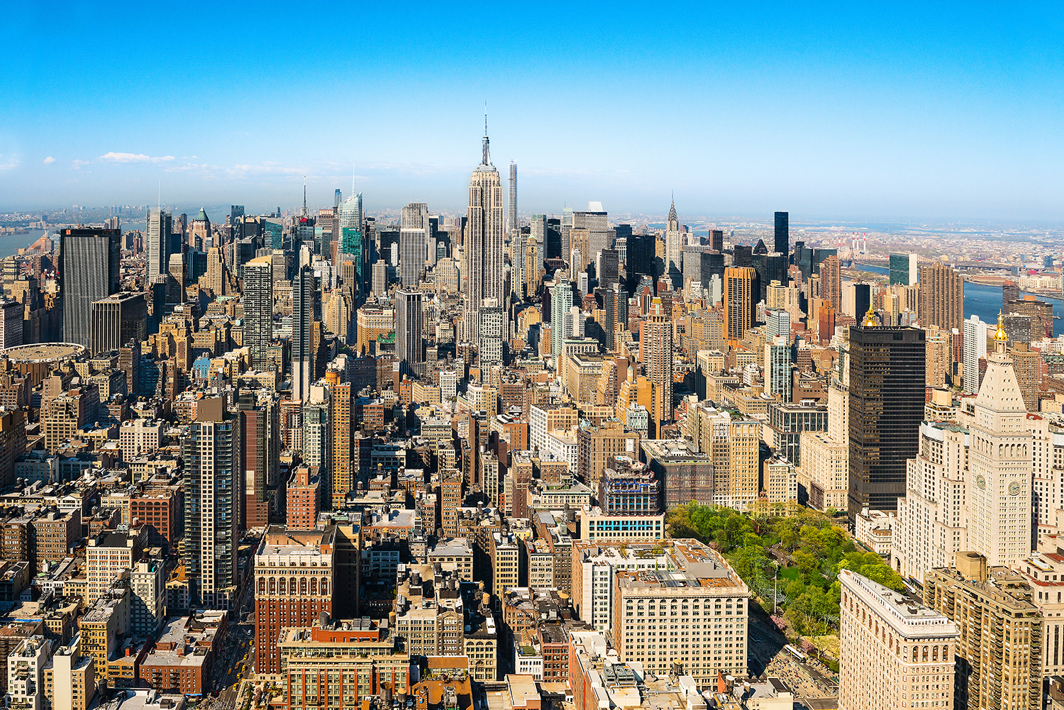 Image Title: NYC Cityscape - Aerial   Mat Sizes: 8x10, 11x14, 16x20  Float Mount Sizes: 12x18, 16x24, 20x30, 24x36, 28x42, 32x48, 36x54, 40x60