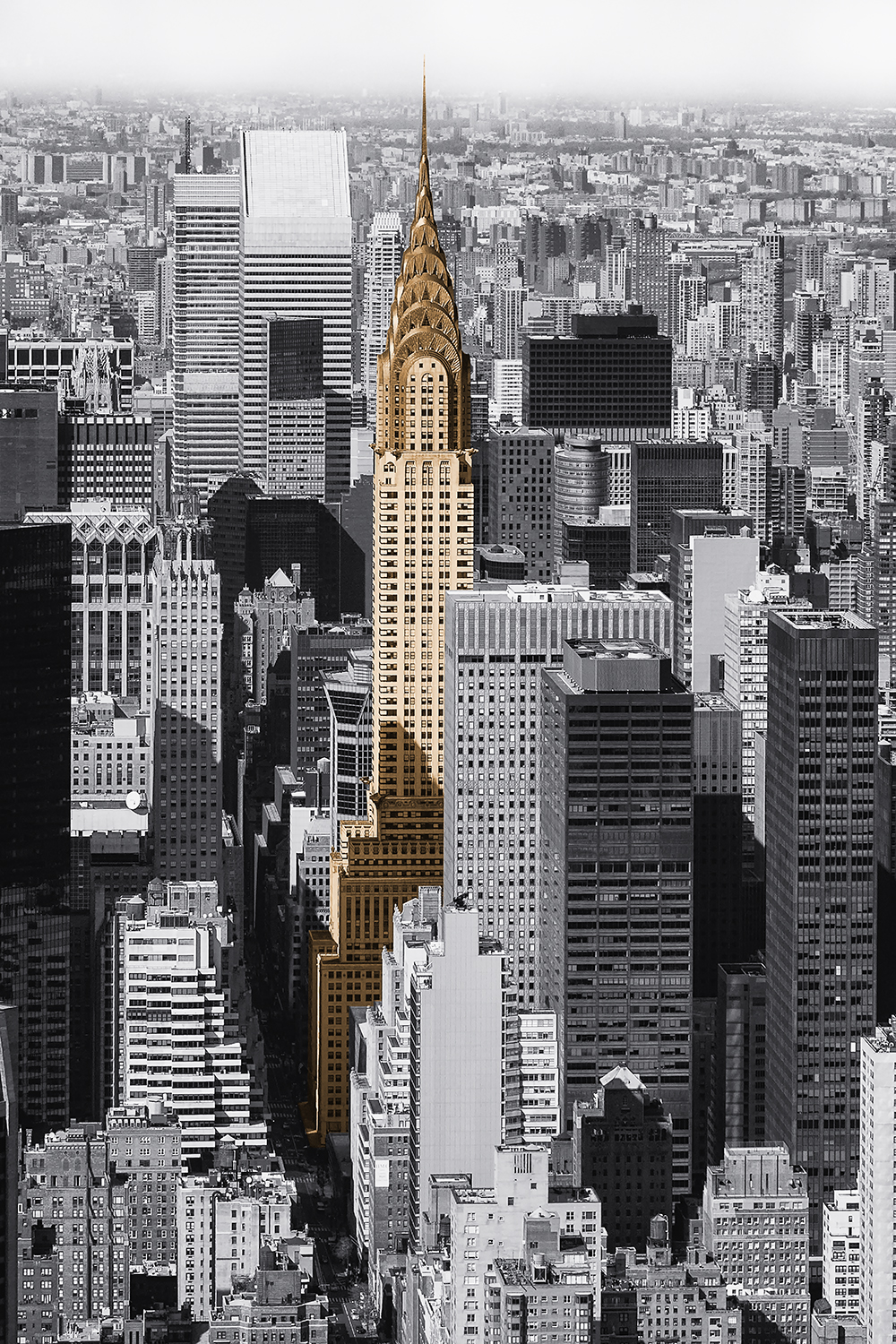 Image Title:  Chrysler Building - Aerial   Mat Sizes:  8x10, 11x14, 16x20   Float Mount Sizes:  12x18, 16x24, 20x30, 24x36, 28x42, 32x48, 36x54, 40x60