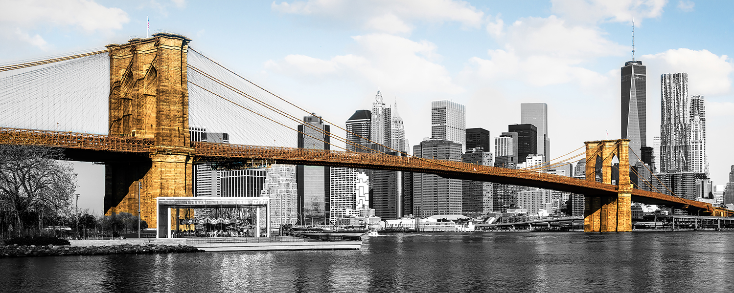 Image Title:  Brooklyn Bridge   Mat Sizes:  12x20  Float Mount Sizes:  07x18, 10x24, 12x30, 15x36, 17x42, 19x48, 22x54, 25x60