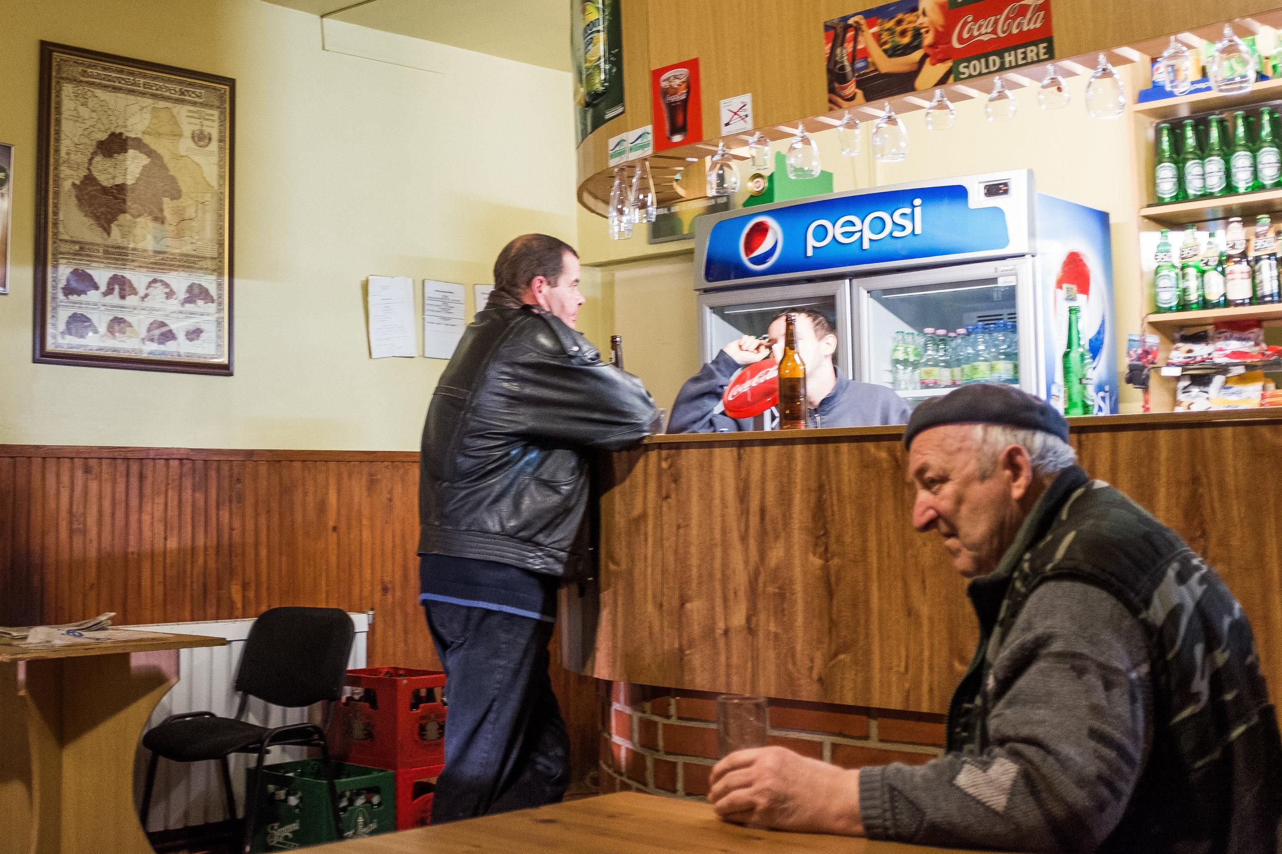 The local 'kocsma', or pub.