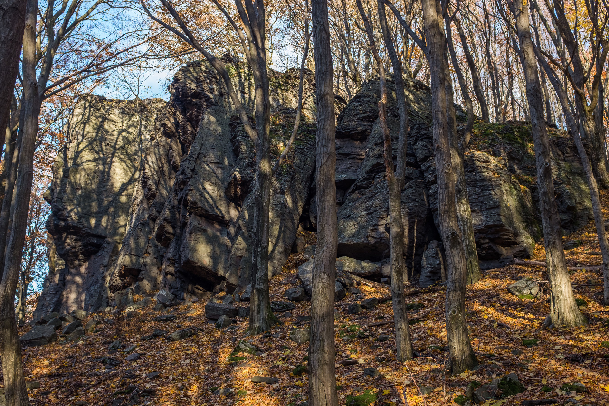 A fantastic limestone climbing rock near Hejce.