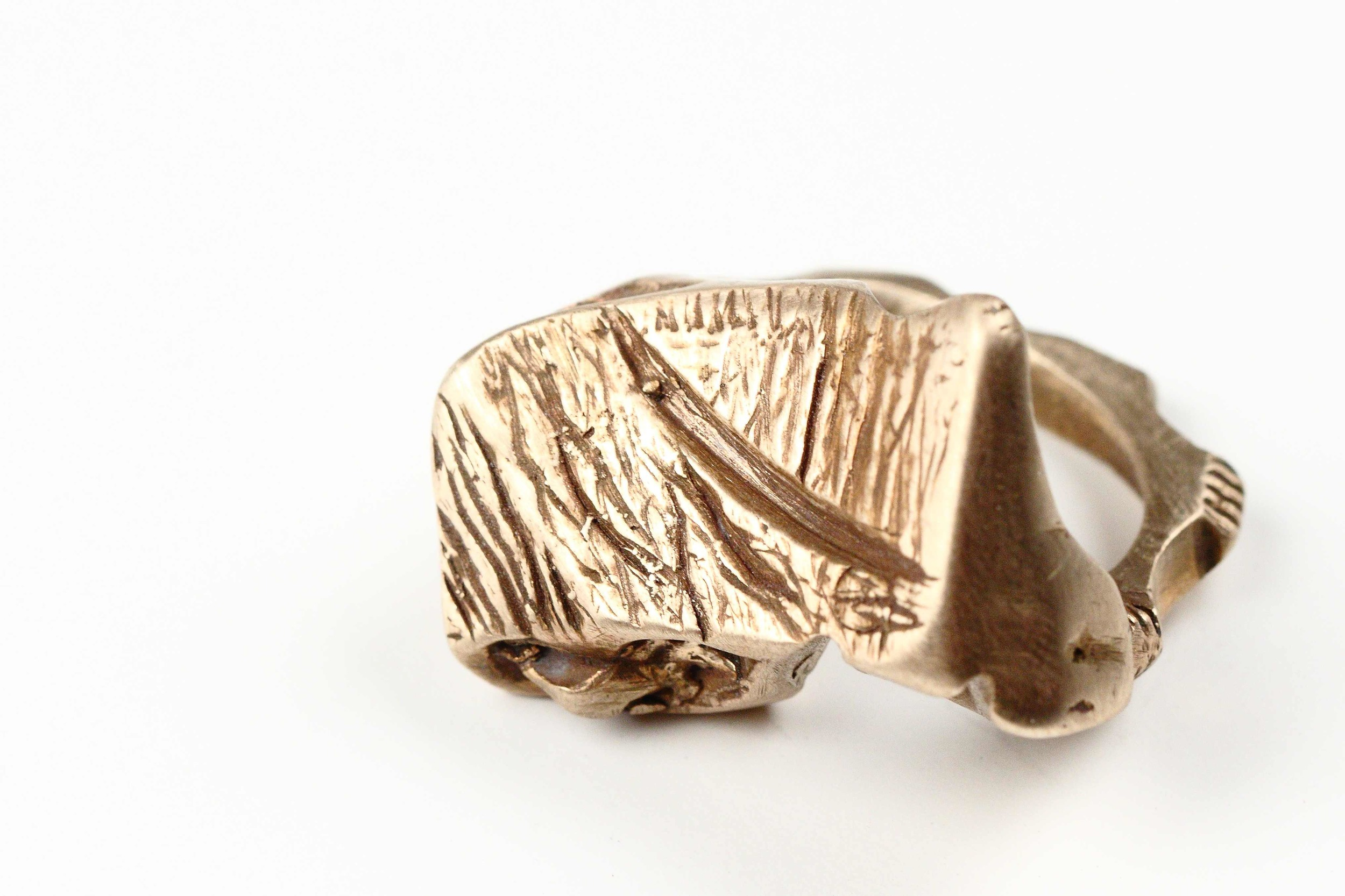 "The ""I, Me, Mine"" Ring. Lose-wax casting with bronze.      See Details"