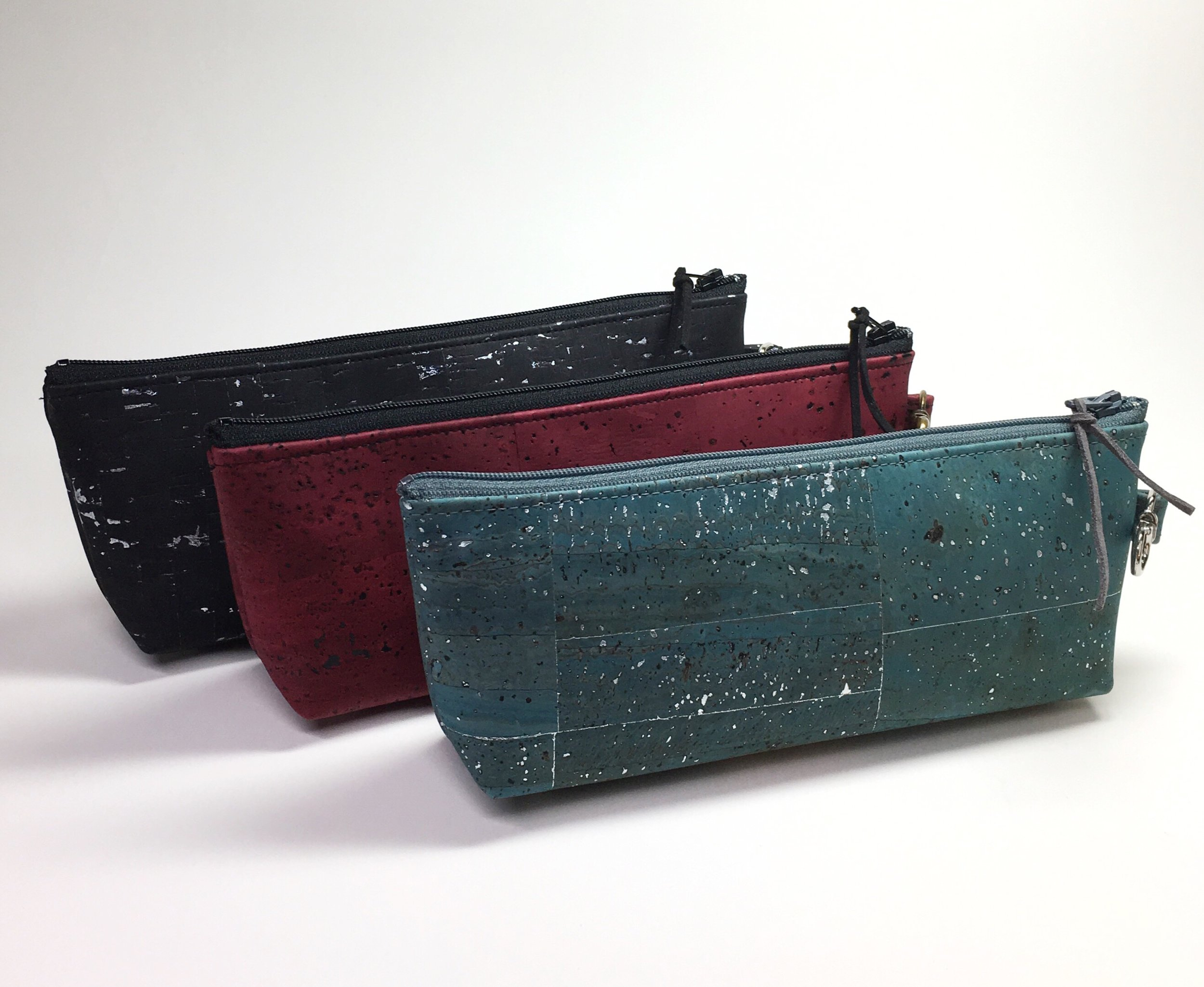 """pencil cases - 8""""Lx 3""""H x 1""""W at the bottom"""
