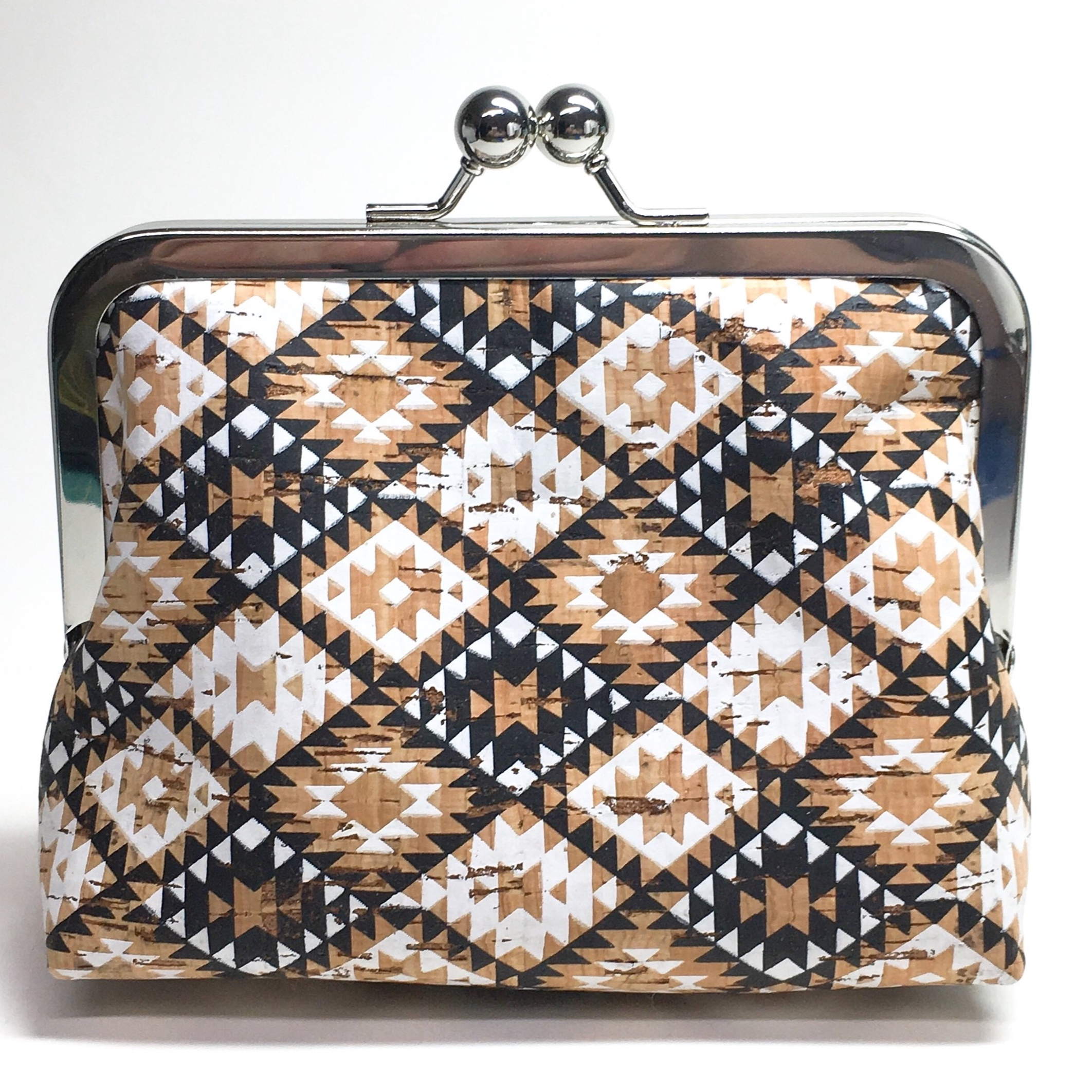 kisslock medium clutch. available with or without chain strap (two length options)