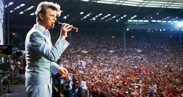 Bowie plays Live Aid. AD 1985.