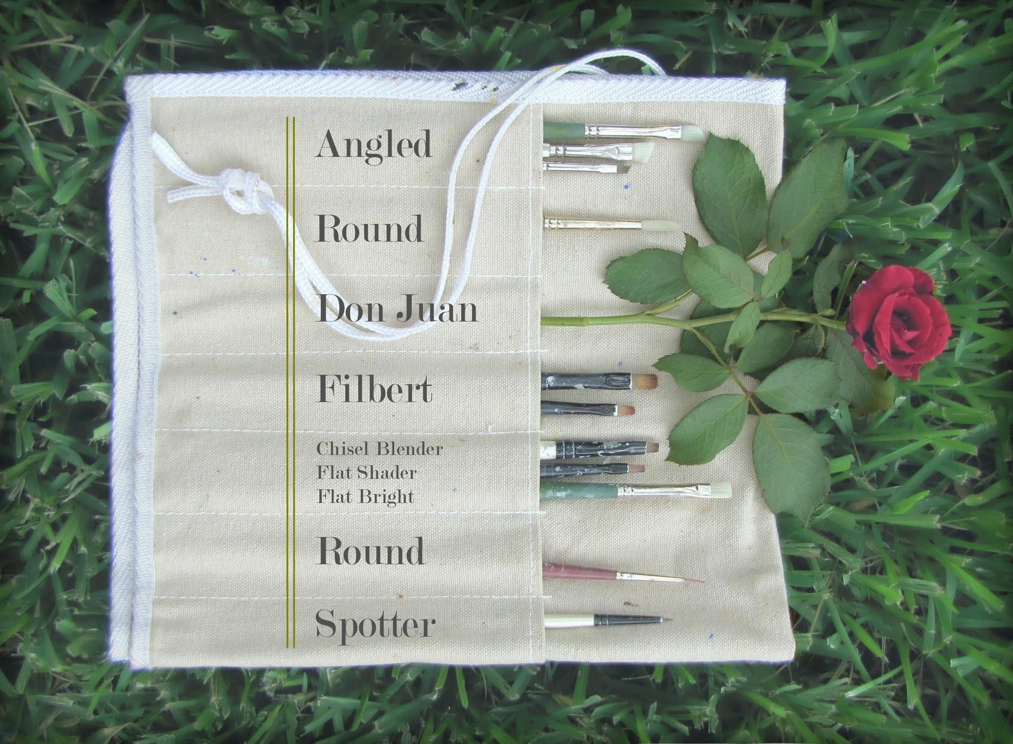 Gigi Reinette - garden of paintbrushes - artist's tools
