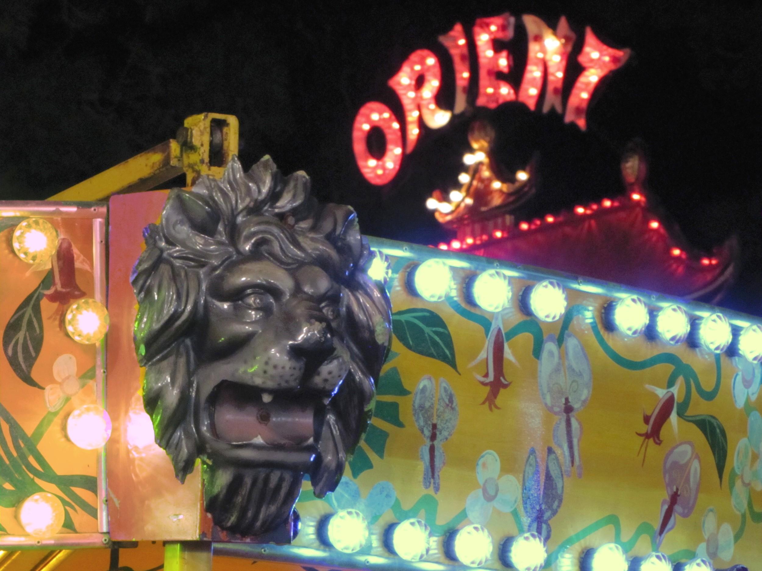 carnival lion lights paradise amusements