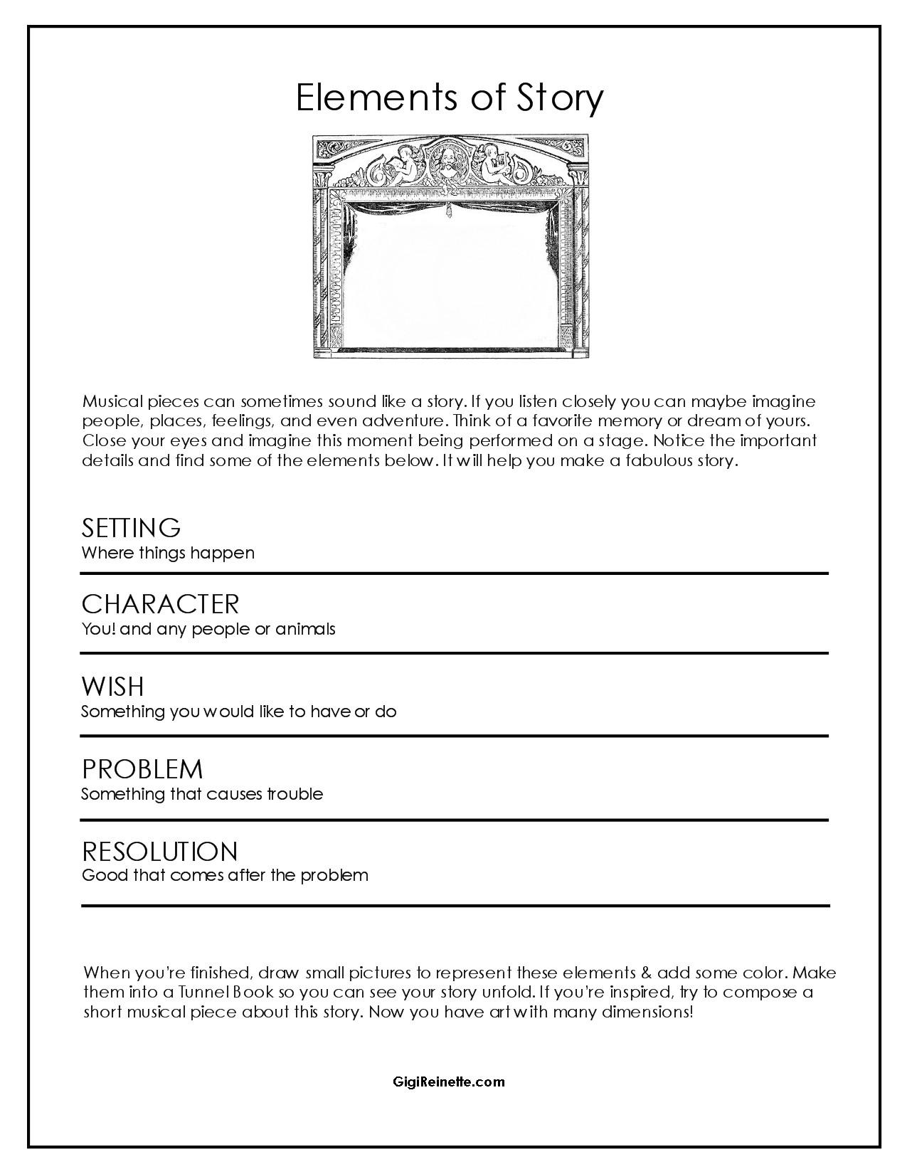 story writing worksheet for kids